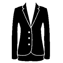 ジャケット エレガントなフェミニンな黒服ビジネス無料アイコン