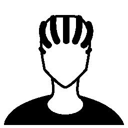 人物クローズ アップ ラスター髪スタイル無料アイコン