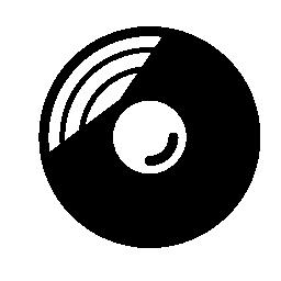 音楽ディスクの無料アイコン