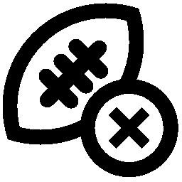 ボタン無料アイコンのクロスでラグビー ボール