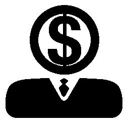 お金の無料アイコンのより多くの収入を得るためにビジネスマンの戦略