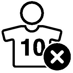 サッカー選手の背番号 10 無料のアイコンを