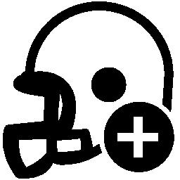 ラグビー ヘルメット ボタンは、プラス無料のアイコンを追加します。