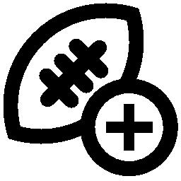 ためのプラス記号の付いたラグビー ボール追加ボタン無料アイコン