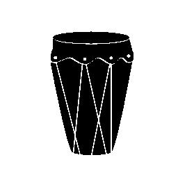 背の高い黒い図形無料アイコンのドラム