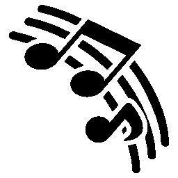 音楽ノート無料アイコン音楽ペンタグラム ライン
