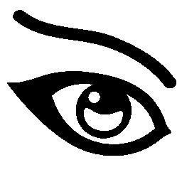 女性の目の無料アイコン