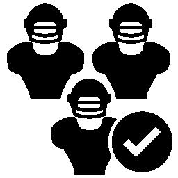 ラグビーのチーム受け入れシンボル無料アイコン