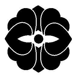 複雑な設計図形無料アイコンの花