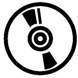 音楽ディスクの白い円の無料アイコン