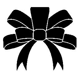 クリスマス ギフト無料のアイコンのための黒いリボン エレガントな形状
