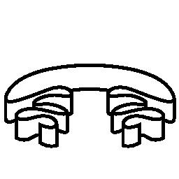 リボン白丸まった形無料アイコン