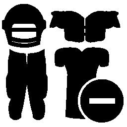 マイナス記号ラグビー プレーヤー服機器シンボル無料アイコン