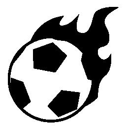 燃えるようなサッカー無料アイコン