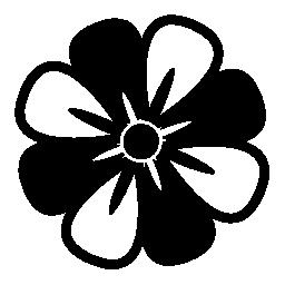 代替色花びら無料アイコンと花バリアント