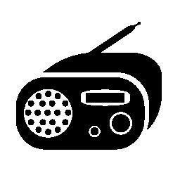 ラジオ ボックスの無料のアイコンを丸め