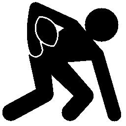 ラグビー チームの選手がボールの無料アイコンを握りしめ