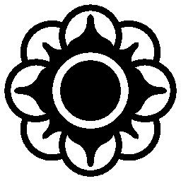 花の円形の花びらは、バリアント無料アイコン