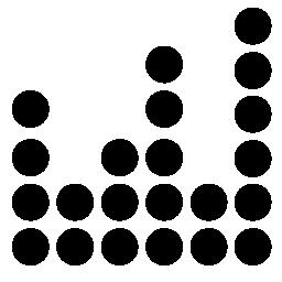 サウンド バーの小さな円無料アイコンによって形成されます。
