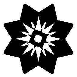 三角形の花弁無料アイコンと花します。