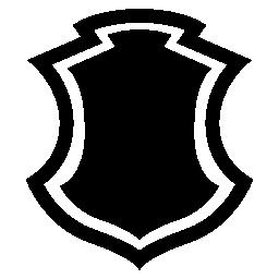 シールド形状ボーダー無料アイコン