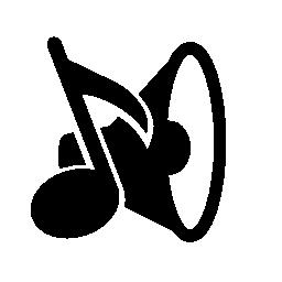 音楽スピーカーと音楽注無料アイコン