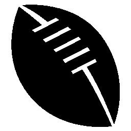白い詳細無料アイコンの付いたラグビー ボール