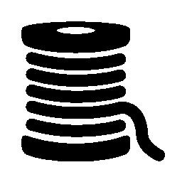 太い糸のスプールの無料のアイコン