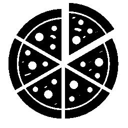 イタリアのピザ無料アイコンのスライスにカット