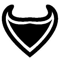 鋭い先端無料アイコンと三角形の盾