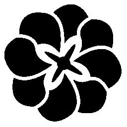 花びらの無料アイコンを重ねて花バリアント
