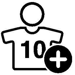背番号 10 無料のアイコンをプラス記号を身に着けているフットボール選手