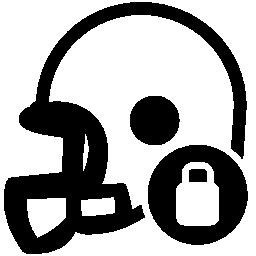 ラグビー プロテクター ヘルメット ロック無料アイコン