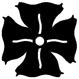花の 4 枚の花びらと白い詳細バリアント無料アイコン
