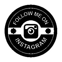Instagram のレトロなバッジの無料のアイコンに私に従う