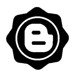 ブロガー社会バッジ無料アイコン