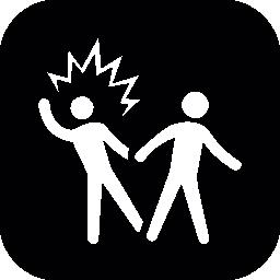 男性のシルエット カップル 1 つ驚いた無料アイコン