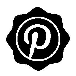 Pinterest 社会バッジ無料アイコン