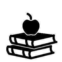 トップ無料アイコンをアップルと 2 冊の本