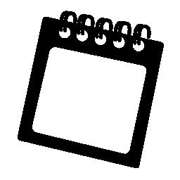 春の正方形のメモ帳の無料のアイコン