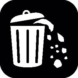 ゴミ箱コンテナーあふれる無料アイコン