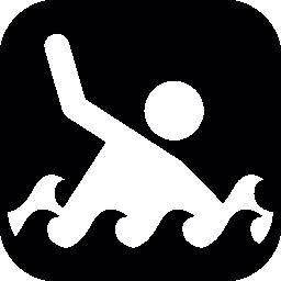 角丸の正方形の水泳選手、無料アイコン