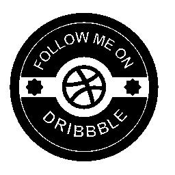 Dribbble レトロなバッジの無料アイコン