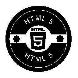 HTML 5 のレトロな丸いバッジ無料アイコン