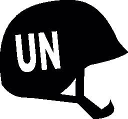 国連ヘルメット無料アイコン