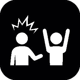 強盗と被害者の無料アイコン