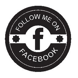 Facebook の社会的なレトロな丸いバッジの無料のアイコン
