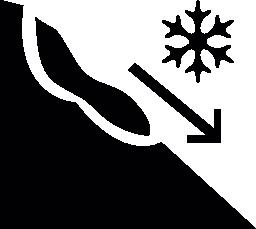 雪山無料アイコンの地すべり危険記号
