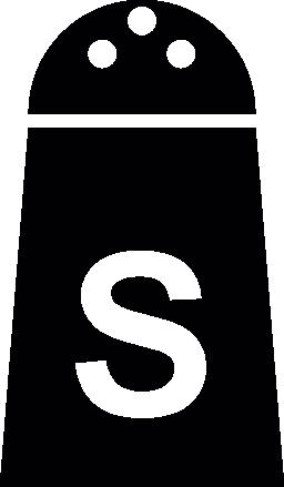 無料の塩のコンテナ ・ アイコン