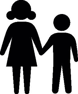 女の子と男の子の無料のアイコン